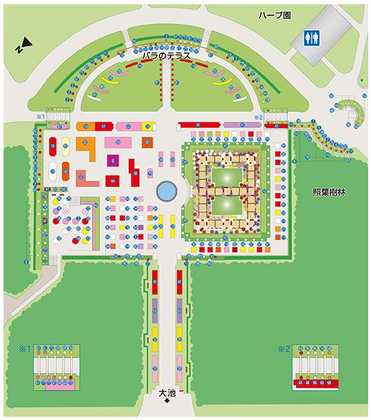 バラ園マップ